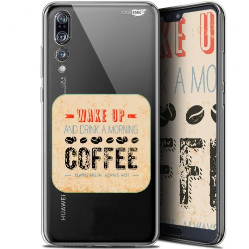 "Coque Gel Huawei P20 Pro (6.1"") Extra Fine Motif -  Wake Up With Coffee"