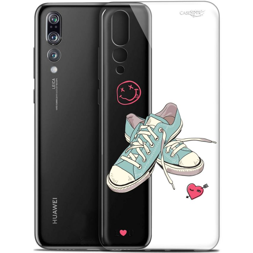 "Coque Gel Huawei P20 Pro (6.1"") Extra Fine Motif - Mes Sneakers d'Amour"