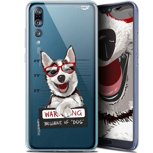 "Coque Gel Huawei P20 Pro (6.1"") Extra Fine Motif -  Beware The Husky Dog"