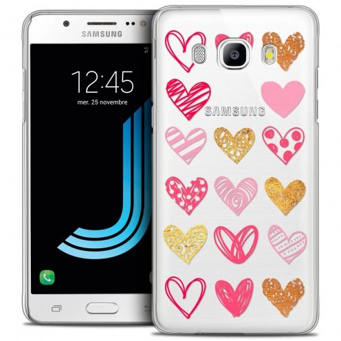 Coque Crystal Galaxy J5 2016 (J510) Extra Fine Sweetie - Doodling Hearts