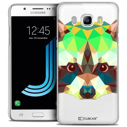 Coque Crystal Galaxy J5 2016 (J510) Extra Fine Polygon Animals - Raton Laveur