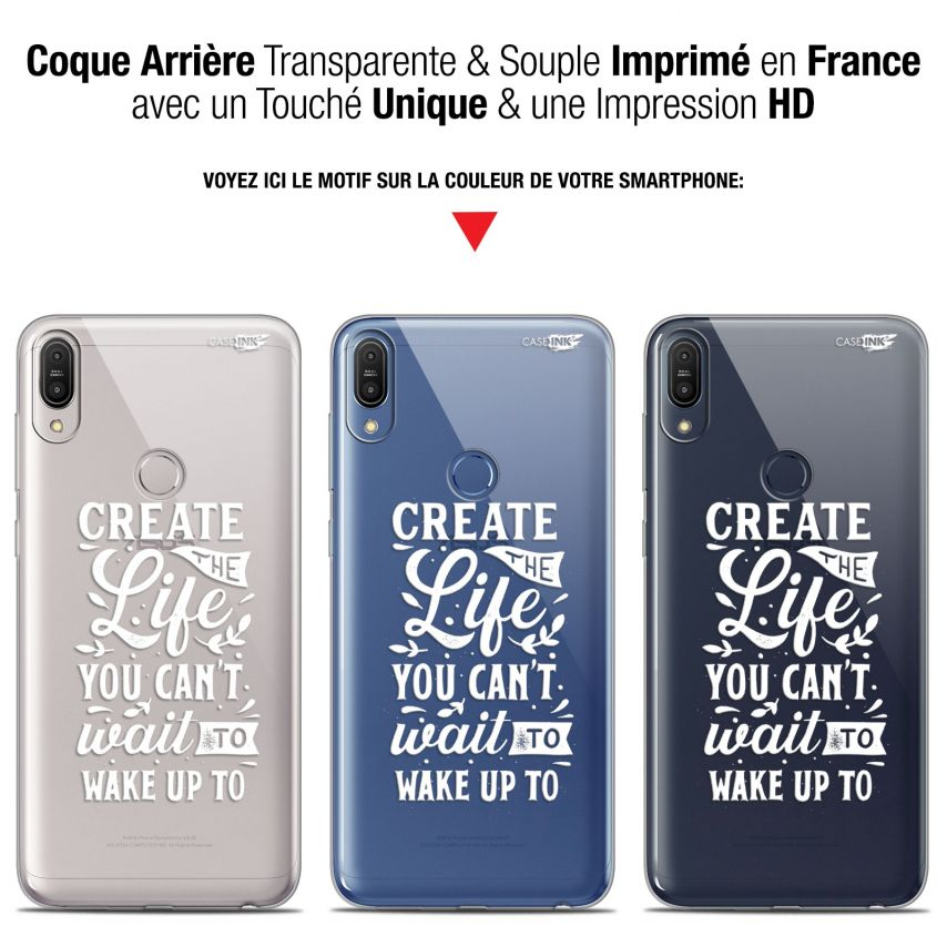 """Coque Gel Asus Zenfone Max Pro (M1) ZB601KL/602KL (6"""") Extra Fine Motif - Wake Up Your Life"""