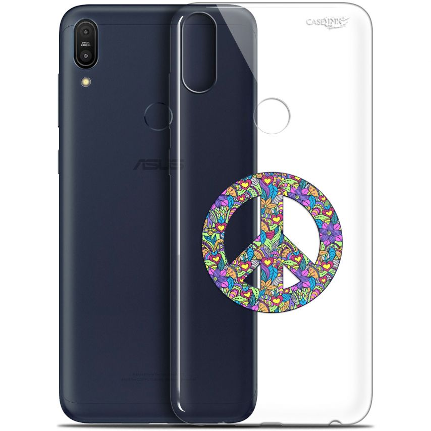 """Coque Gel Asus Zenfone Max Pro (M1) ZB601KL/602KL (6"""") Extra Fine Motif - Peace And Love"""