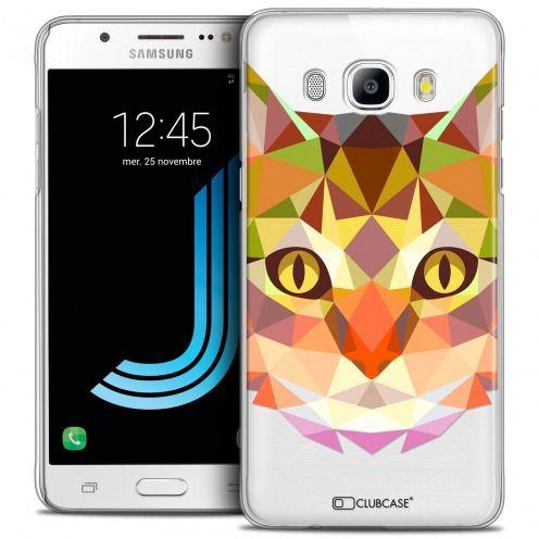 Coque Crystal Galaxy J5 2016 (J510) Extra Fine Polygon Animals - Chat