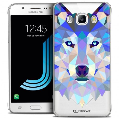 Coque Crystal Galaxy J5 2016 (J510) Extra Fine Polygon Animals - Loup