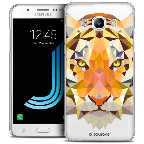 Coque Crystal Galaxy J5 2016 (J510) Extra Fine Polygon Animals - Tigre