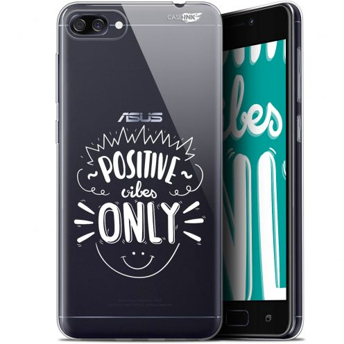 "Coque Gel Asus Zenfone 4 Max ZC520KL (5.2"") Extra Fine Motif - Positive Vibes Only"