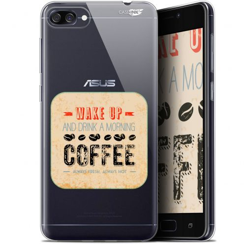 "Coque Gel Asus Zenfone 4 Max ZC520KL (5.2"") Extra Fine Motif - Wake Up With Coffee"