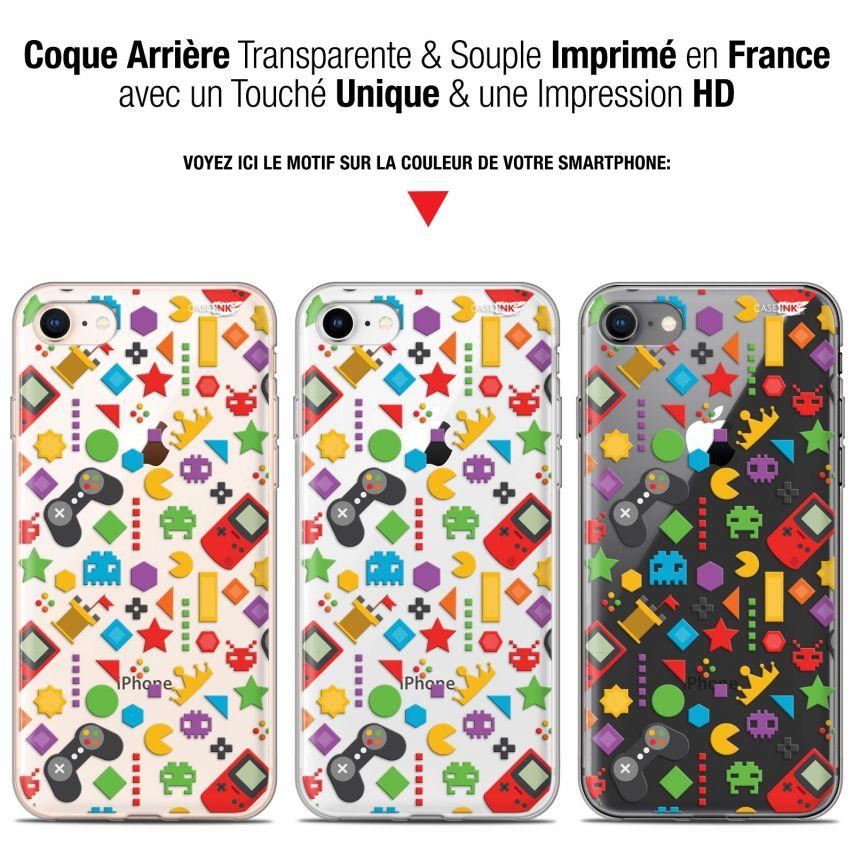"Coque Gel Apple iPhone 7/8 (4.7"") Extra Fine Motif - PacMan"