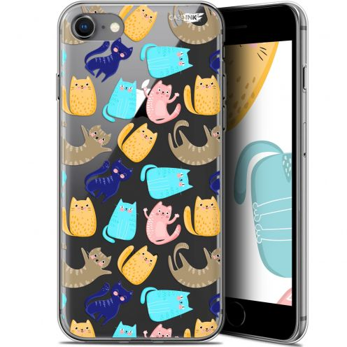 "Coque Gel Apple iPhone 7/8 (4.7"") Extra Fine Motif - Chat Danse"
