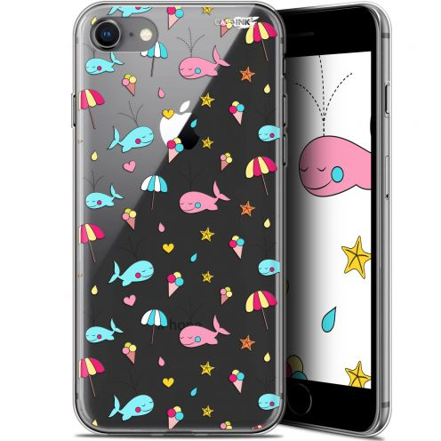"Coque Gel Apple iPhone 7/8 (4.7"") Extra Fine Motif - Baleine à la Plage"