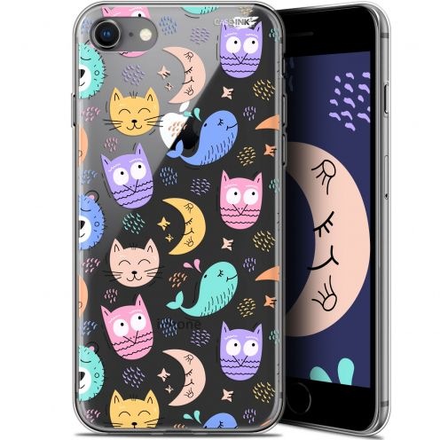 "Coque Gel Apple iPhone 7/8 (4.7"") Extra Fine Motif - Chat Hibou"