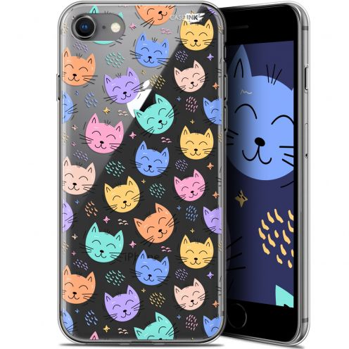 "Coque Gel Apple iPhone 7/8 (4.7"") Extra Fine Motif - Chat Dormant"