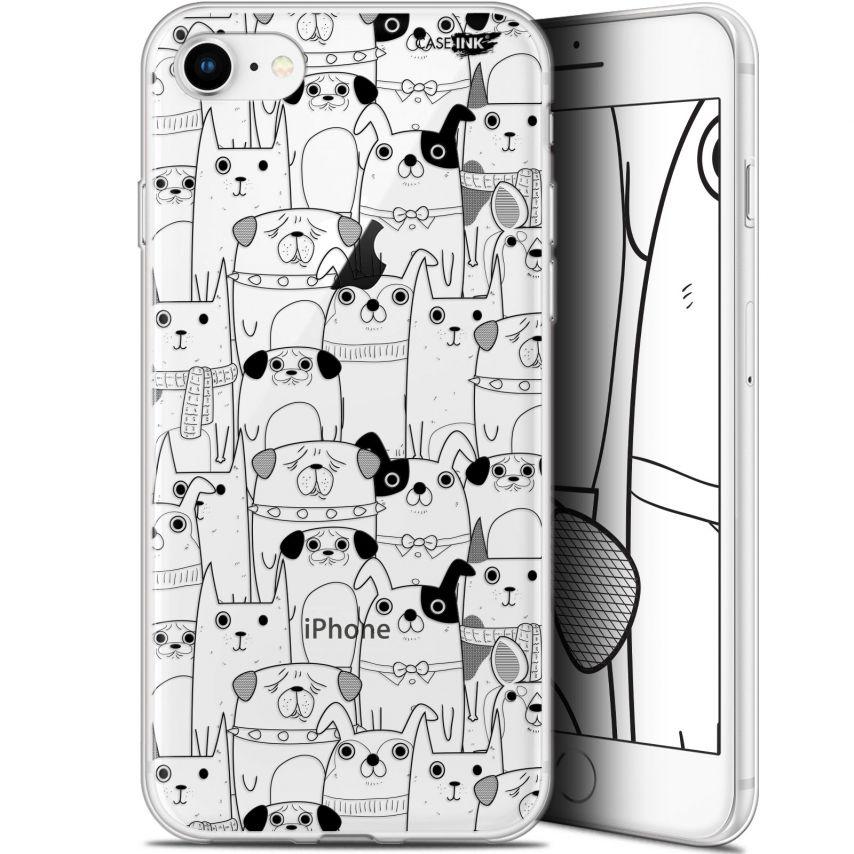 "Coque Gel Apple iPhone 7/8 (4.7"") Extra Fine Motif - Chien Noir"