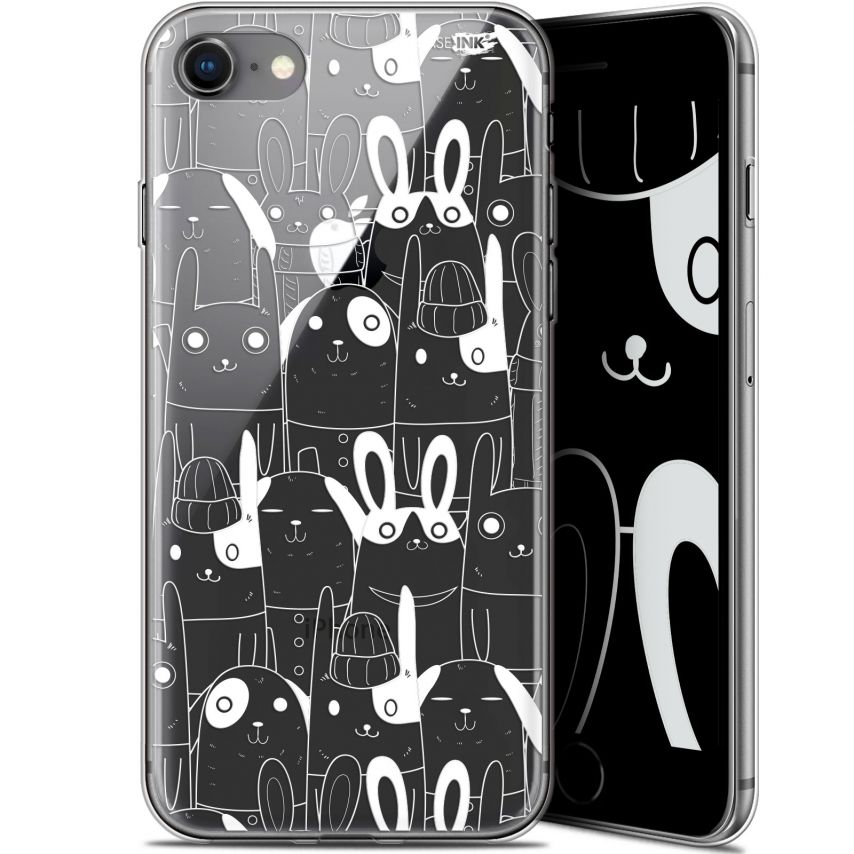 "Coque Gel Apple iPhone 7/8 (4.7"") Extra Fine Motif - Lapin Blanc"