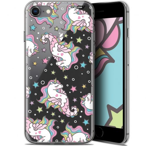 "Coque Gel Apple iPhone 7/8 (4.7"") Extra Fine Motif -  Licorne Dormante"