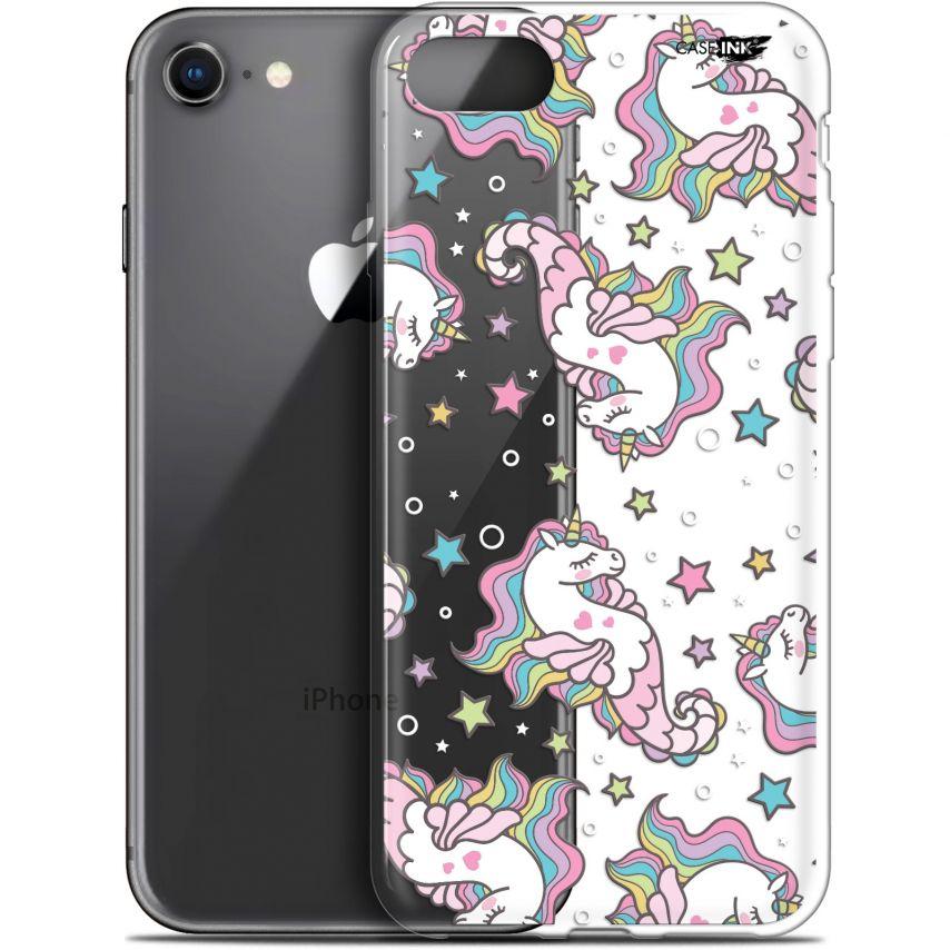 "Coque Gel Apple iPhone 7/8 (4.7"") Extra Fine Motif - Licorne Dormante"