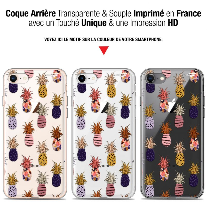"Coque Gel Apple iPhone 7/8 (4.7"") Extra Fine Motif - Ananas Gold"
