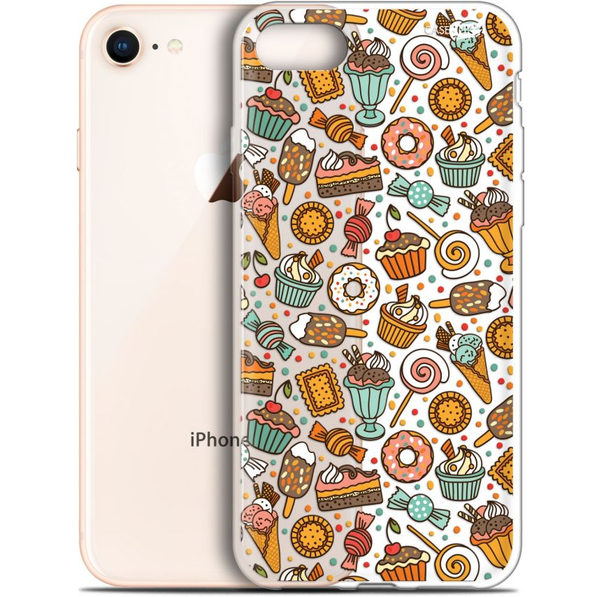 "Coque Gel Apple iPhone 7/8 (4.7"") Extra Fine Motif - Bonbons"
