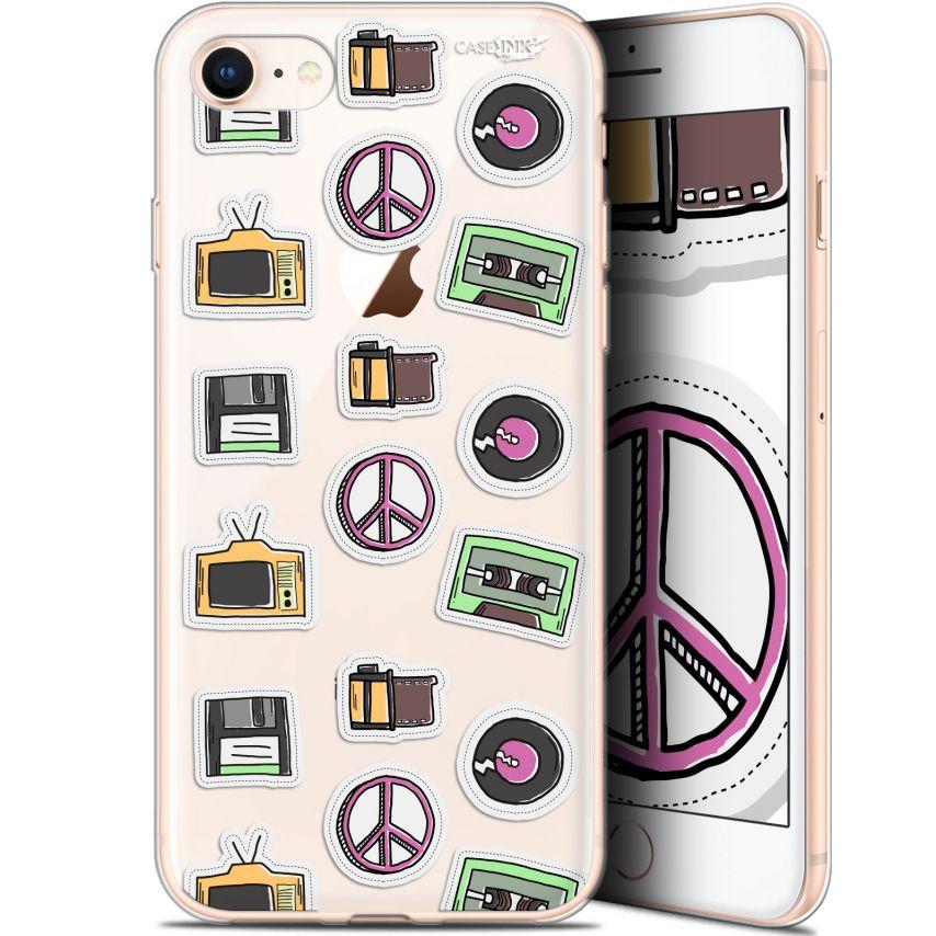 "Coque Gel Apple iPhone 7/8 (4.7"") Extra Fine Motif - Vintage Stickers"