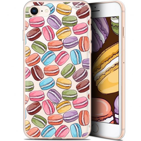 "Coque Gel Apple iPhone 7/8 (4.7"") Extra Fine Motif -  Macarons"