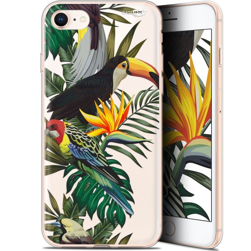 "Coque Gel Apple iPhone 7/8 (4.7"") Extra Fine Motif - Toucan Tropical"