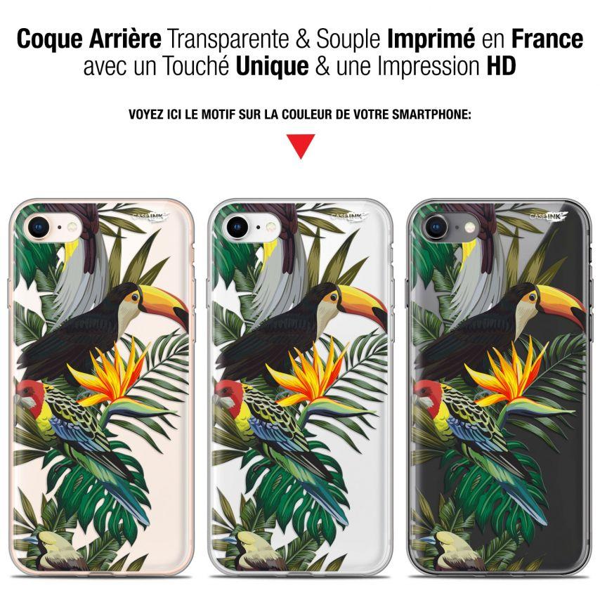 "Coque Gel Apple iPhone 7/8 (4.7"") Extra Fine Motif - Toucan Tropical"