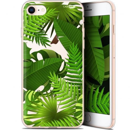 "Coque Gel Apple iPhone 7/8 (4.7"") Extra Fine Motif -  Plantes des Tropiques"