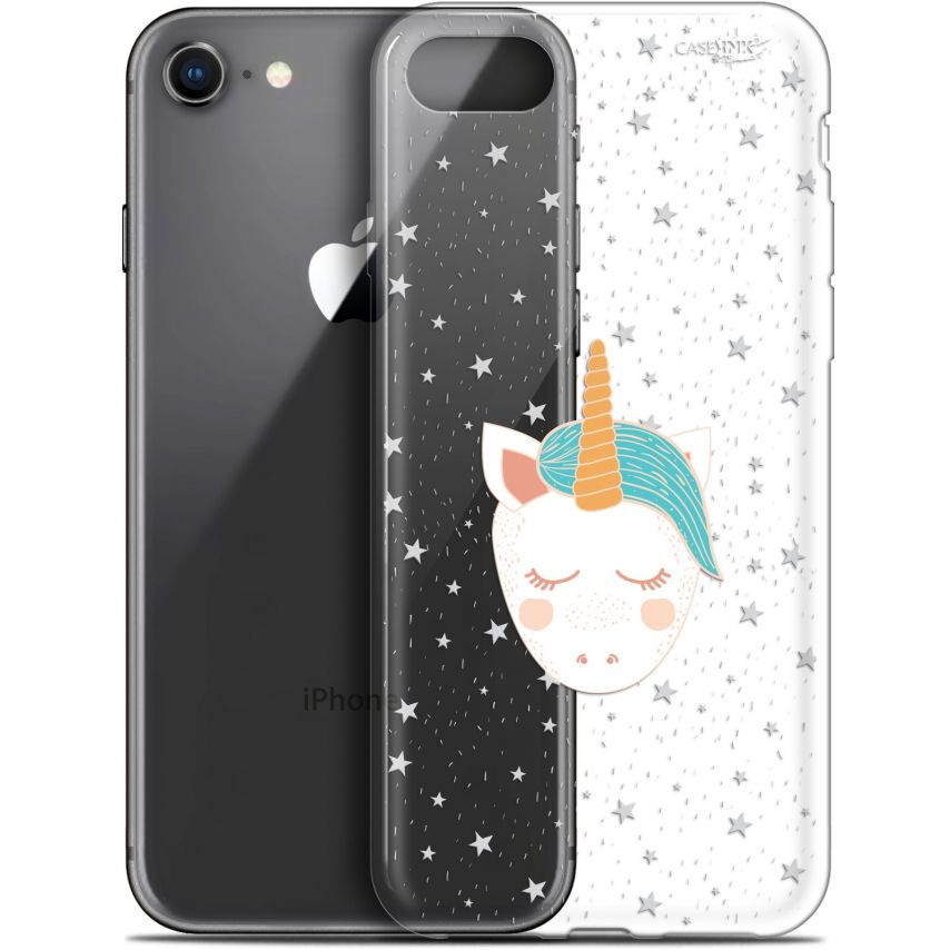 "Coque Gel Apple iPhone 7/8 (4.7"") Extra Fine Motif - Licorne Dors"