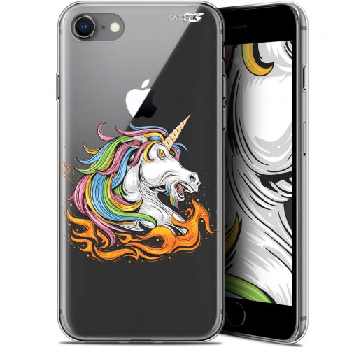 "Coque Gel Apple iPhone 7/8 (4.7"") Extra Fine Motif - Licorne de Feu"