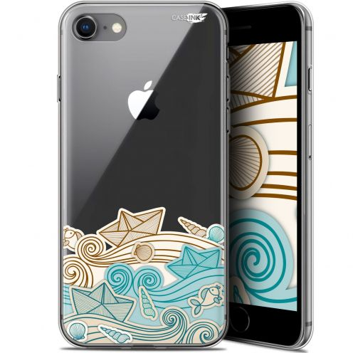"Coque Gel Apple iPhone 7/8 (4.7"") Extra Fine Motif -  Bateau de Papier"