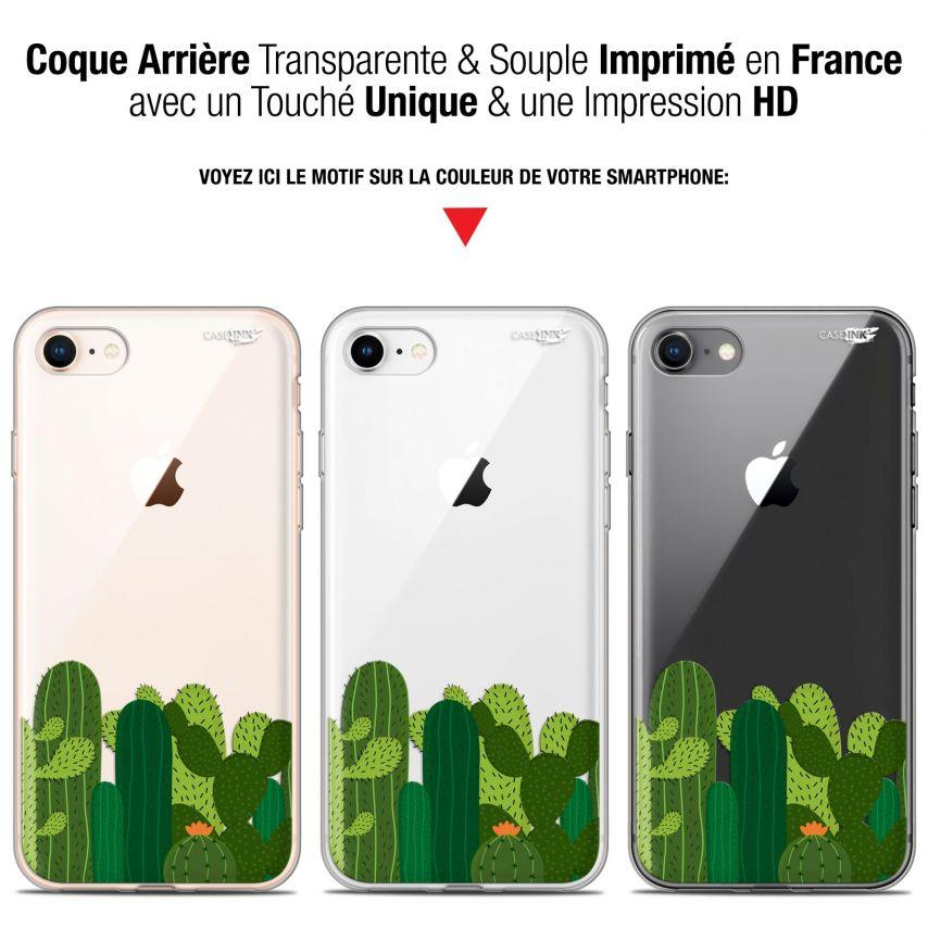 """Coque Gel Apple iPhone 7/8 (4.7"""") Extra Fine Motif - Cactus"""