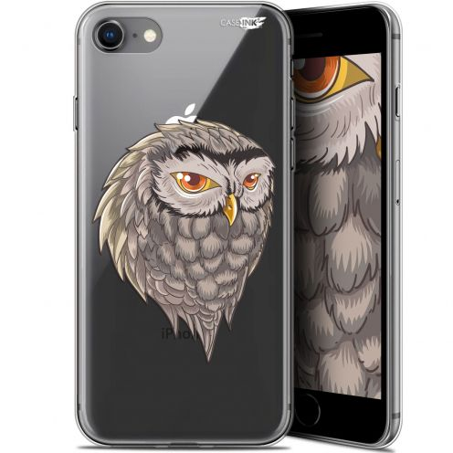 "Coque Gel Apple iPhone 7/8 (4.7"") Extra Fine Motif -  Hibou Draw"