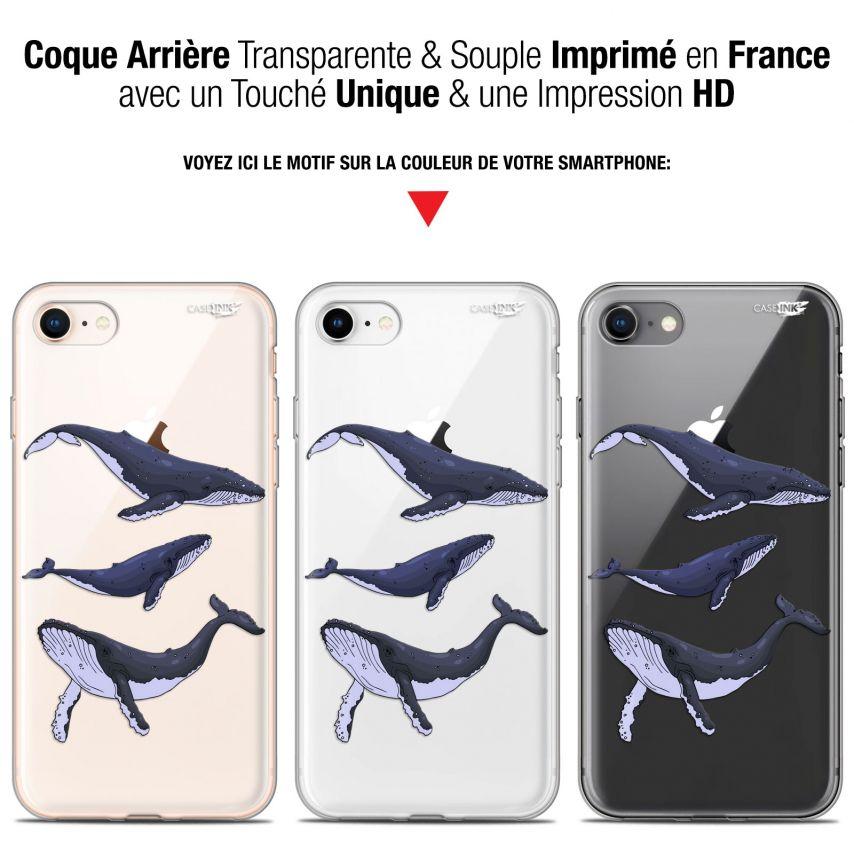 "Coque Gel Apple iPhone 7/8 (4.7"") Extra Fine Motif - Les 3 Baleines"