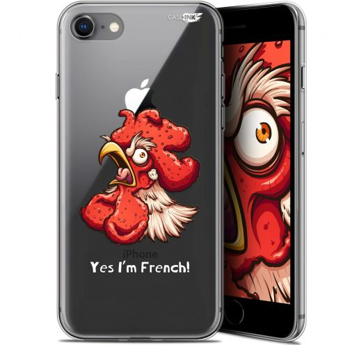 "Coque Gel Apple iPhone 7/8 (4.7"") Extra Fine Motif - I'm French Coq"