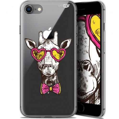 "Coque Gel Apple iPhone 7/8 (4.7"") Extra Fine Motif - Hipster Giraffe"
