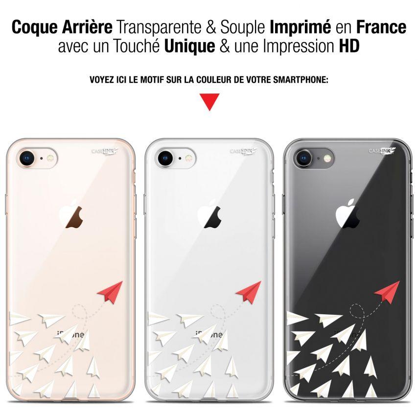 "Coque Gel Apple iPhone 7/8 (4.7"") Extra Fine Motif - Papier Volant"