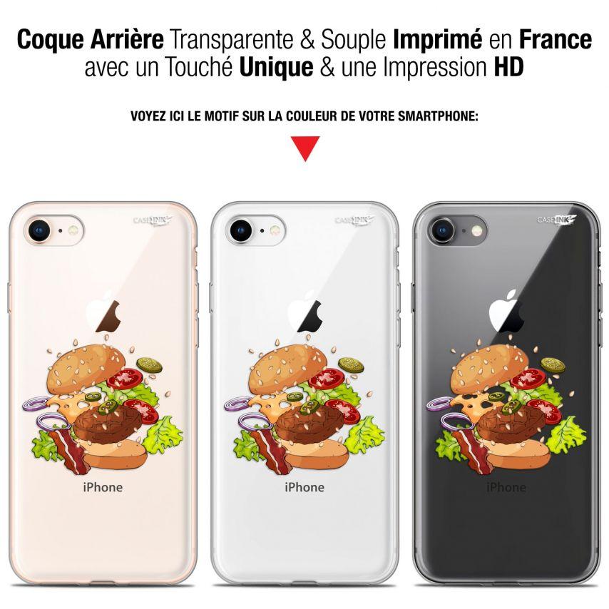 "Coque Gel Apple iPhone 7/8 (4.7"") Extra Fine Motif - Splash Burger"