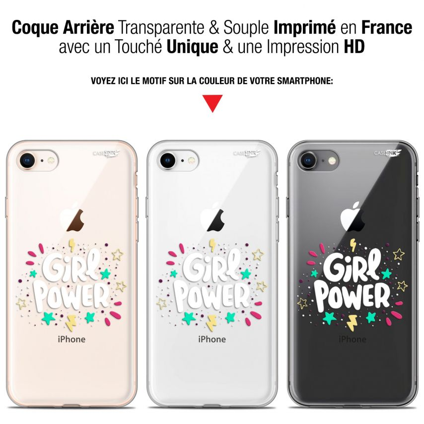 "Coque Gel Apple iPhone 7/8 (4.7"") Extra Fine Motif - Girl Power"