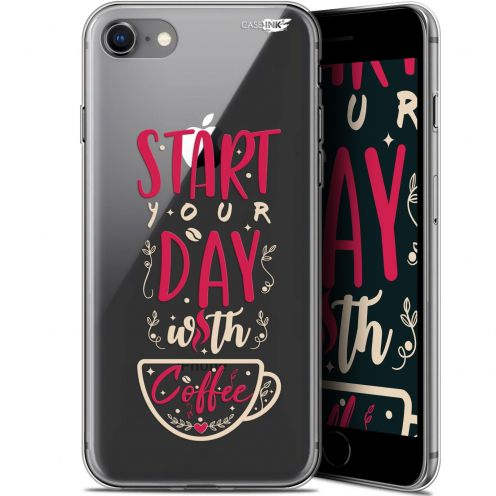 "Coque Gel Apple iPhone 7/8 (4.7"") Extra Fine Motif -  Start With Coffee"