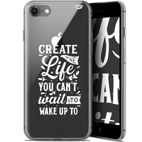 "Coque Gel Apple iPhone 7/8 (4.7"") Extra Fine Motif -  Wake Up Your Life"