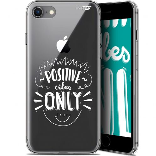 "Coque Gel Apple iPhone 7/8 (4.7"") Extra Fine Motif -  Positive Vibes Only"