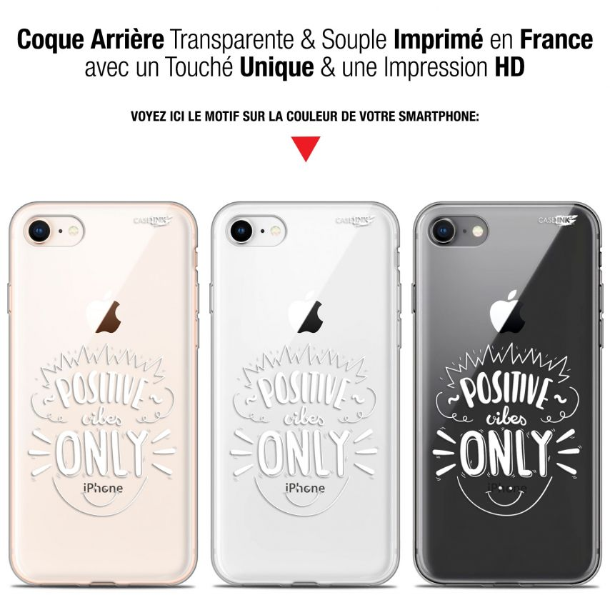 """Coque Gel Apple iPhone 7/8 (4.7"""") Extra Fine Motif - Positive Vibes Only"""
