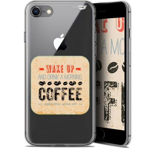 "Coque Gel Apple iPhone 7/8 (4.7"") Extra Fine Motif - Wake Up With Coffee"