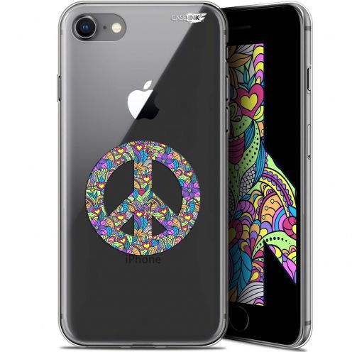 "Coque Gel Apple iPhone 7/8 (4.7"") Extra Fine Motif -  Peace And Love"