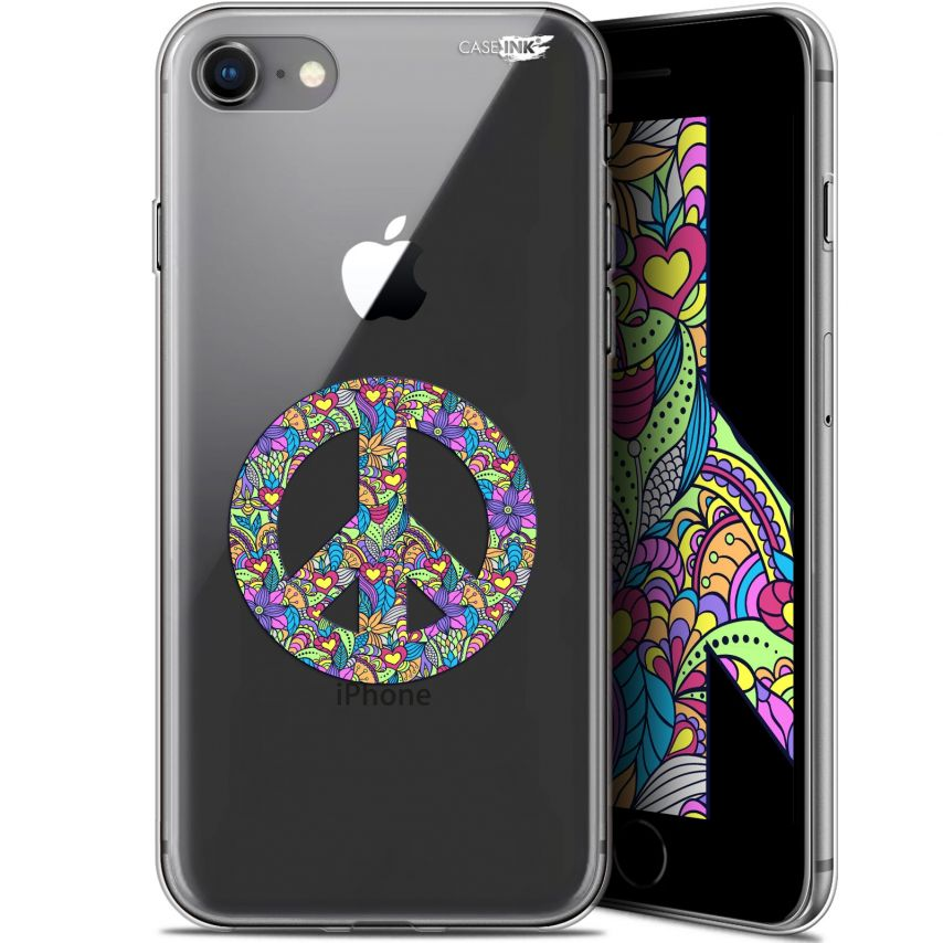 """Coque Gel Apple iPhone 7/8 (4.7"""") Extra Fine Motif - Peace And Love"""