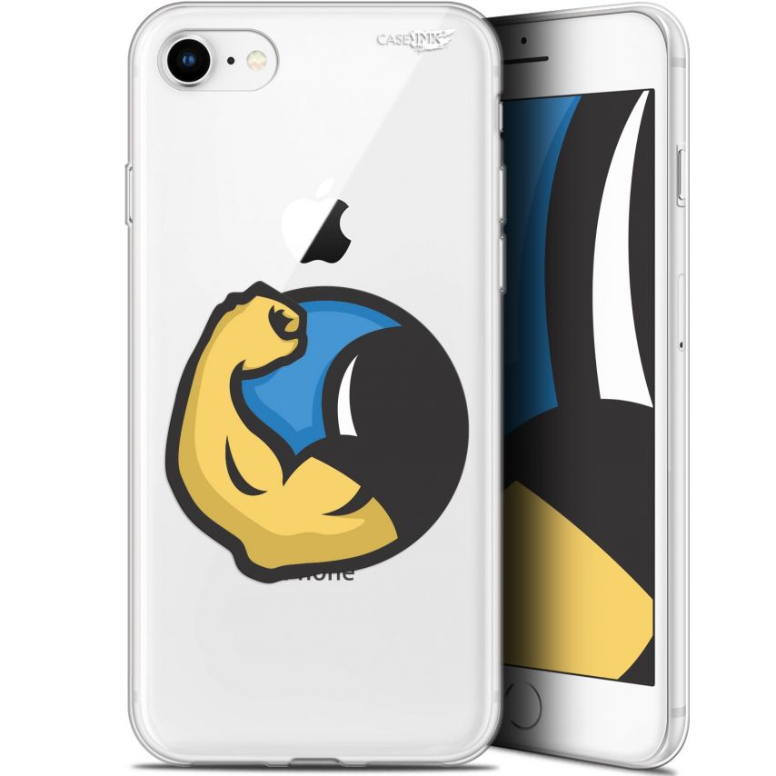 "Coque Gel Apple iPhone 7/8 (4.7"") Extra Fine Motif - Monsieur Muscle"