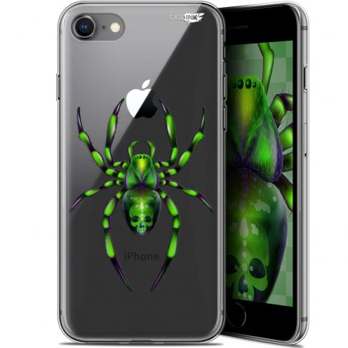 "Coque Gel Apple iPhone 7/8 (4.7"") Extra Fine Motif - Arraignée Verte"