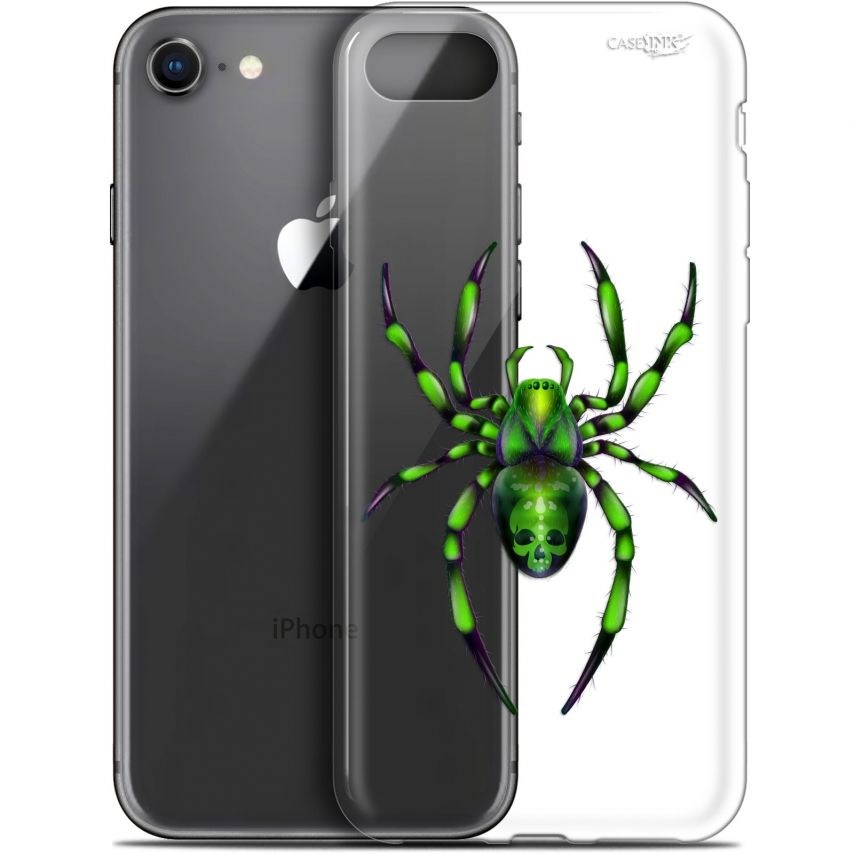 """Coque Gel Apple iPhone 7/8 (4.7"""") Extra Fine Motif - Arraignée Verte"""