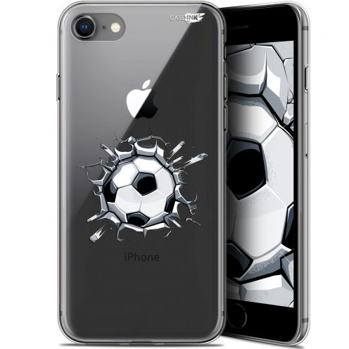 "Coque Gel Apple iPhone 7/8 (4.7"") Extra Fine Motif - Le Balon de Foot"